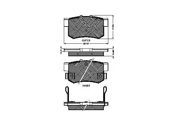Комплект тормозных колодок, дисковый тормоз 32532 REMSA