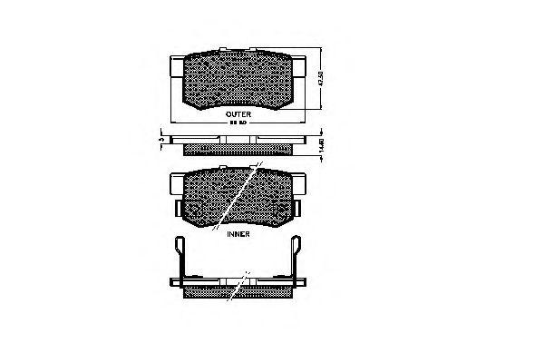 Комплект тормозных колодок, дисковый тормоз 32512 REMSA